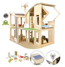 pt green dollhouse png    Plan Toys The Green Dollhouse With Furniture Re Re