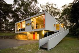 Over loved modern   conserving Rose Seidler House   Sydney Living    Photo of Rose Seidler house at night   lights shinning through windows