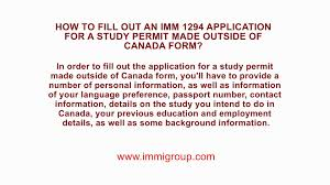 how to fill out an imm 1294 application for a study permit made how to fill out an imm 1294 application for a study permit made outside of form