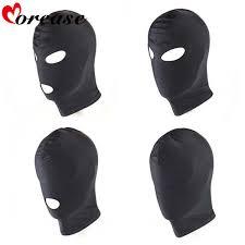 Morease <b>4 Style Fetish</b> Unisex <b>BDSM</b> Hood Mask Black Mouth Eye ...