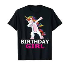 Dabbing Unicorn Birthday Girl Party Shirt: Clothing - Amazon.com