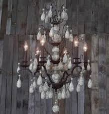 cottege chandelier with wooden beads lighting connection amelie distressed chandelier perfect lighting