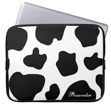 Cow hide <b>pattern laptop</b> sleeve | <b>Cute animal</b> print | Zazzle.com ...
