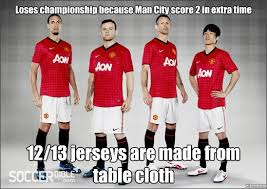 Manchester United table cloth - WeKnowMemes Generator via Relatably.com