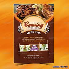 catering menu template flyer menu design catering menu template flyer