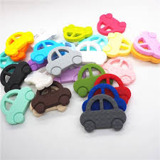 <b>Chenkai 5PCS</b> BPA Free DIY <b>Silicone</b> Car Teether Chewable ...