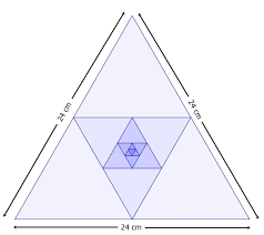 arithmetic and geometric progressions problem solving brilliant one side of an equilateral triangle is 24 cm the midpoints of its sides are joined to form another triangle whose midpoints in turn are joined to form