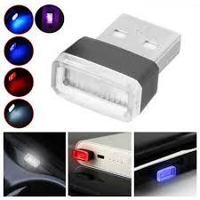 <b>4pcs Mini Usb</b> Luz <b>Led</b> Interior Colorido Luz ambiente para carro ...