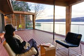 wall of water lake deck and deck addition modern exterior by bright ideas bright ideas deck