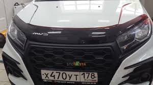 Установка <b>дефлектора капота</b> на Lada XRay - YouTube