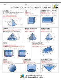 high school geometry homework help high school geometry help geometry cheat sheet 5 3d shape formulas