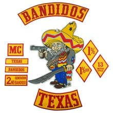 Bandidos Patch Biker Texa Motorcycle Embroidered Patches Full ...