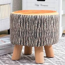 Solid Wood Stool/Sofa Stool/Fabric Stool/Shoe Stool ... - Amazon.com