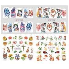 <b>12pcs</b> New <b>Stickers</b> For <b>Nails</b> Art <b>Water Decals</b> Decorations Animals ...