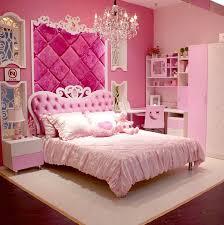 Princess Room Furniture European Style MDF Pink Princess Girl 4pcs Bedroom Furniture Bed 93450 Room