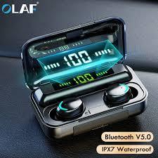 <b>Olaf Bluetooth 5.0 Earphones</b> TWS Wireless Headphones 9D Stereo ...