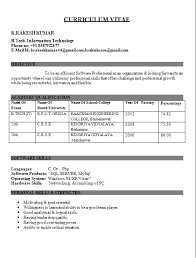 Resume Template for Fresher         Free Word  Excel  PDF Format     YourMomHatesThis Resume Format   r