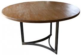 round dining table base:  images about metal base for round granite kitchen table on pinterest industrial metal pedestal and crate and barrel