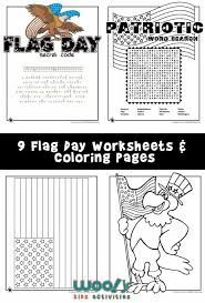Small Picture Flag Day Word Search and Printable Worksheets