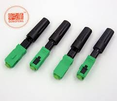 100 pcs sc apc optical fast connector ear adapter fiber embedded quick assembly flange plastic connectors