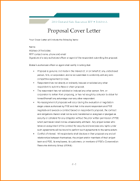 cover letter for a proposal template cover letter for a proposal