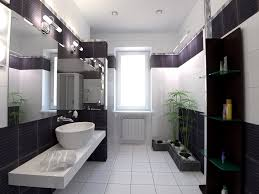 very modern bathroom design with a bit of asian zen inspiration ceramic purple black white