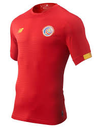 New Balance Synthetic Costa Rica <b>Home Ss Jersey</b> in Red/Yellow ...