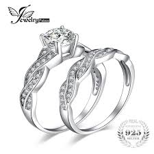 <b>JewelryPalace 925 Sterling Silver</b> Engagement Ring Wedding Band ...