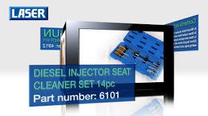 Laser 6101 <b>14 Piece</b> Diesel <b>Injector</b> Seat Cleaner Set