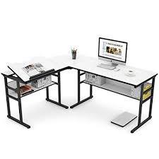 FOBUY Adjustable <b>Tiltable Tabletop Drawing</b> Table Home Office ...
