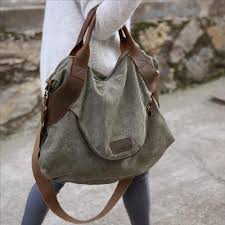 Cleo - <b>Womens Canvas Messenger Handbag</b> - LeafySouls