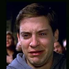 crying peter parker - caption | Meme Generator via Relatably.com