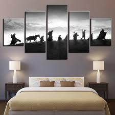 HD Home Decor Printed Modular Paintings <b>5 Panel Lord</b> Of The ...