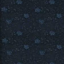 Kotori <b>Floral</b> Overdyed Indigo Fabric | Ralph Lauren