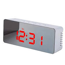 RUNGAO <b>Creative</b> Mirror <b>LED Digital Alarm Clock</b> Night Light Lamp ...