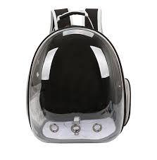 Рюкзак для <b>переноски</b> животных <b>ZDK Petsy transparent</b> (черный ...