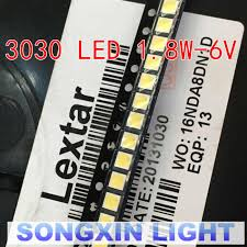 50pcs Lextar <b>LED</b> Backlight High Power <b>LED</b> 1.8W <b>3030</b> 6V <b>Cool</b> ...
