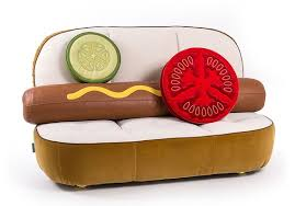 If you have questionable taste and a lot of money, this <b>hot</b> dog couch ...