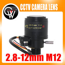 "MP HD Motorized 1/2.7"" 2.8 <b>12mm</b> Varifocal F1.4 M12 Mount DC Iris ..."