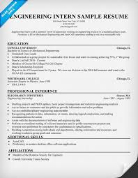 Resume  Resume Templates For College Students For Internships     Intern Resume Example