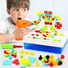Electric <b>Drill Puzzle Toys</b> Match Tools <b>Educational Puzzle</b> Mini ...