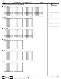 Decimal WorksheetsMultiplying Decimals (Visually) worksheet ...
