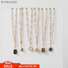 <b>Fever&Free Hot Sale Shiny</b> Gold Hammered Initial Necklace ...