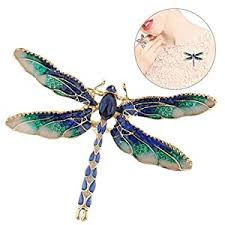 Enamel Dragonfly Brooch Pin, Volwco Lovely Insect <b>Crystal</b> Pins ...