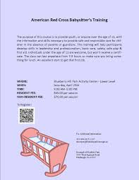 franklin park borough > recreation > upcoming programs american red cross babysitter s training