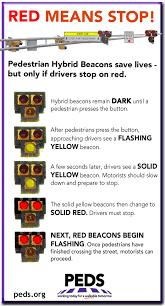pedestrian safety flyers peds pedestrian hybrid beacons