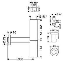 Купить сифон для раковины <b>Hansgrohe</b> Flowstar 52120000 с ...