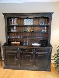 rustic hutch dining room: custom black rustic hutch ecustomfinishes  custom black rustic hutch ecustomfinishes