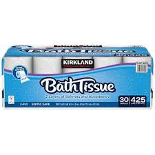 Kirkland Signature Bath <b>Tissue</b>, 2-Ply, 425 sheets, 30 <b>rolls</b>