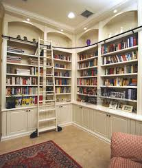 home library decorating ideas custom bookcases orlando wood shelving built home library